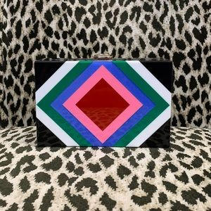 Milly multi colored hardshell purse